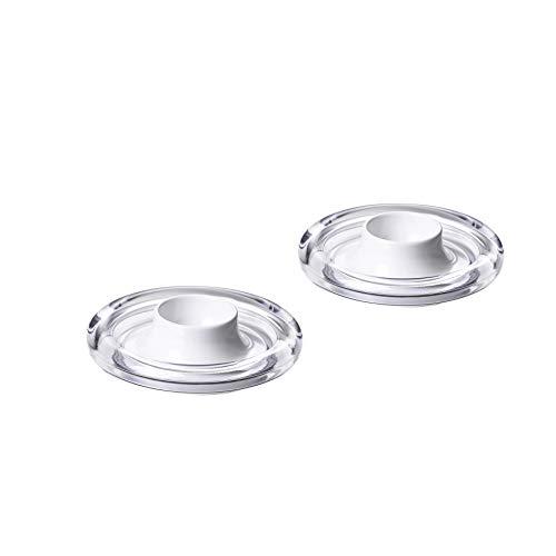 Omada Design 2er-Set Eierbecher aus Kunststoff mit Tropfboden, Kristalleffekt, Spülmaschinenfest, Crystal Line