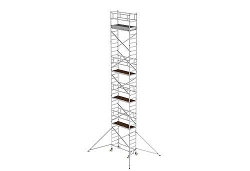 Aluminium rolsteiger met rijbalk*, platformen op 2 m afstand - 155346