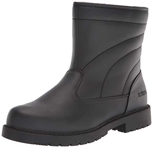 totes Mens Luke, Waterproof Snow Boot, Black, 11