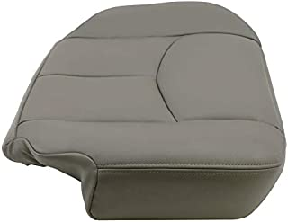 7BLACKSMITHS Driver Bottom Replacement Leather Seat Cover for 2003-2006 Chevy Tahoe Suburban Yukon 922 Pewter