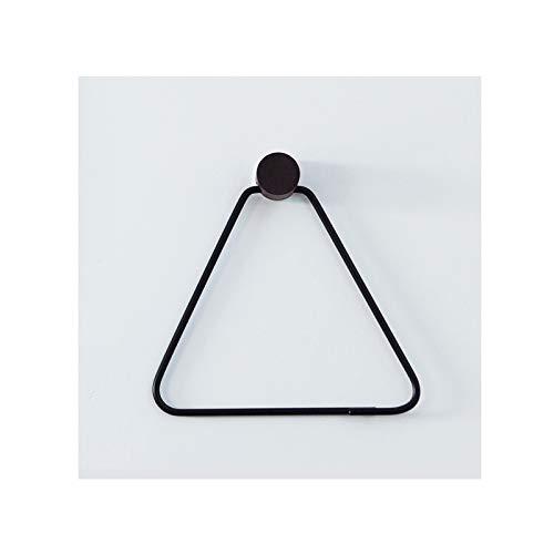 HMMJ Tenedor de Papel higiénico, Soporte de triángulo montado en Pared Estante de Almacenamiento de Tejido, combinación de Madera de Cobre, sin perforación necesaria para el baño de Cocina