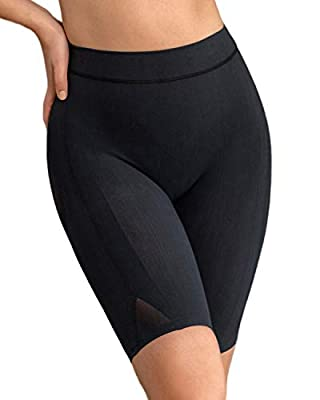 Leonisa Women's Petite Plus Well-Rounded Invisible Butt Lifter Shaper Short, Black, XX-Large