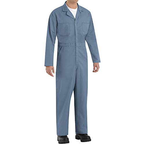 Red Kap Men's Twill Action Back Coverall, Postman Blue, 46