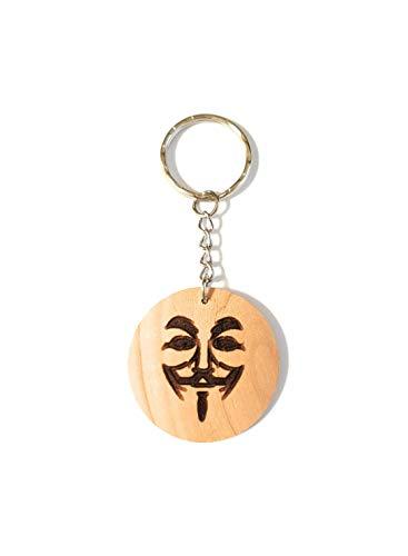 Schlüsselanhänger Holz Anonymous, Holzgeschenke