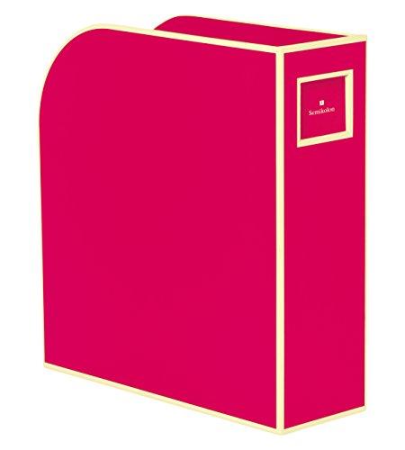 Semikolon (352735) Stehsammler A4 pink (rosa) - Zeitschriften-Sammler und Dokumenten-Ordner - Für A4 - Format: 10,5 × 26,0 × 31,0 cm