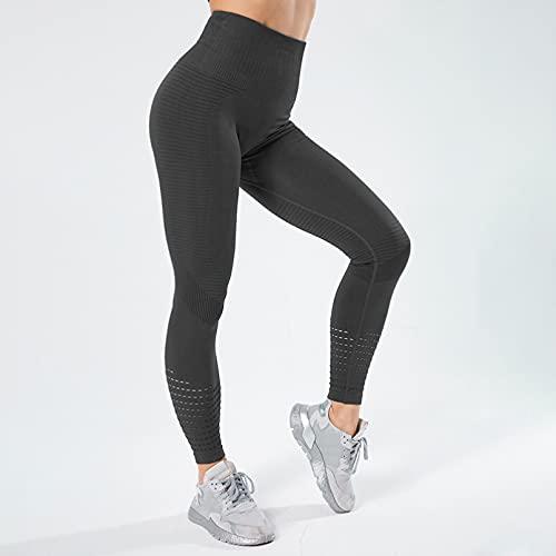 YSDSBM Leggings para Fitness, Mallas sin Costuras, Pantalones de Yoga de Cintura Alta, Pantalones de Entrenamiento Transpirables para Mujer, Pantalones de Entrenamiento