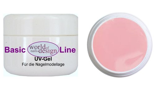 World of Nails-Design BasicLine 15ml LED/UV 1Phasen-Gel Milky Rosé dick, rosa milchig Babyboomer Look