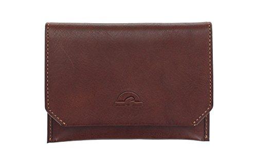 Tony Perotti Geldbörse Geldbeutel, schmal, vollnarbiges Leder, mit RFID-Schutz 1008_1 Braun