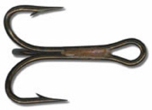 Mustad Hooks 4X Strong Treble Hook Ringed Bronze Size 6 25per pk #3592BR-6 pc24