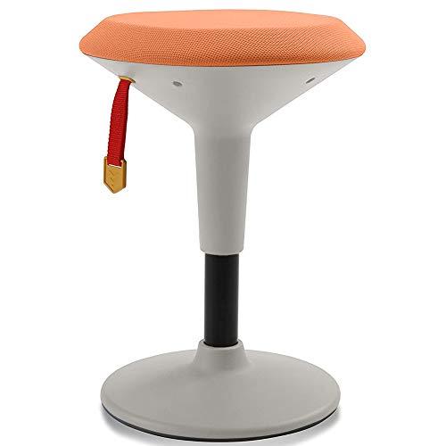 Adjustable Wobble Chair for Kids - Ergonomic Wobble Stool to Encourage Right Posture, Balance & Strengthen Core - School Classroom - Active Kid ADHD Fidget Seat (Orange Fabric - Orange Frame)