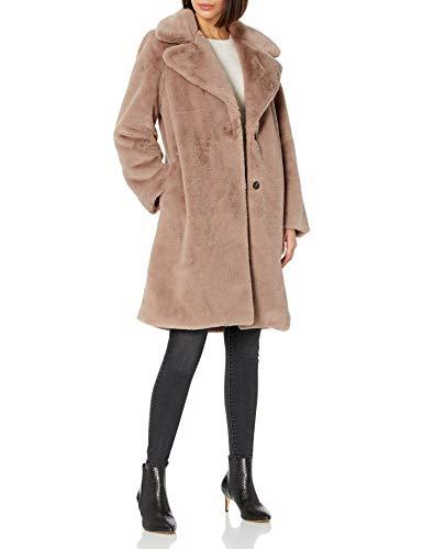 The Drop Women's Kiara Loose-Fit Long Faux Fur Coat, Sand, XS