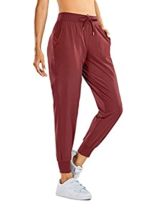 CRZ YOGA Women's Lightweight Joggers Pants with Pockets Drawstring Workout Running Pants with Elastic Waist Savannah Small