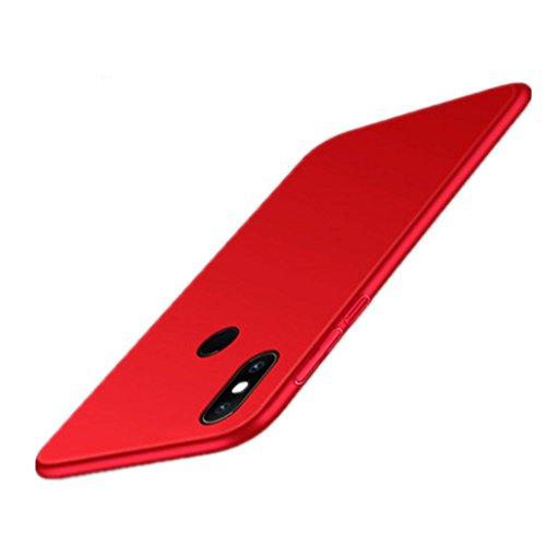 HDOMI Xiaomi Mi Mix 2S Hülle, Hohe Qualität & Super Thin Cover Hart PC Schutzhülle für Xiaomi Mi Mix 2S (Rot)