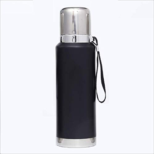 Koude fles, waterfles, dubbelwandig, vacuüm-geïsoleerde roestvrijstalen thermosfles, 12 uur warm, 24 uur koude waterfles voor school, fitness, reizen buitenshuis 1100ML 1