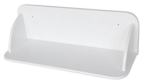 Leomark Etagere Sur le Mur Blanc Etagere Murales En Bois Etagere D'Angle Suspendue Blanc Moderne Rangement Meuble de Rangement