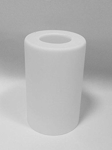 Lampenglas Ersatzglas Lampenschirm E14 Röhre 95mm weiß opalfarbig