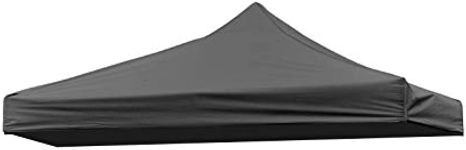 (Black)  2.9m x 0.9sqm Replacement Canopy Gazebo Top Assorted Colours by Trademark Innovations (Black)