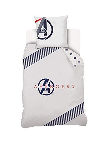 Disney Avengers Bettwäsche, 140 x 200 cm, 100% Baumwolle, Weiß (Haushaltswaren)