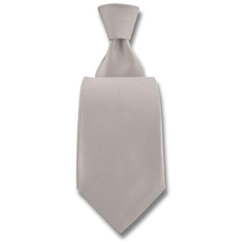 Robert Charles. Cravate. Satin, Soie. Blanc, Uni. Fabriqué en Italie.