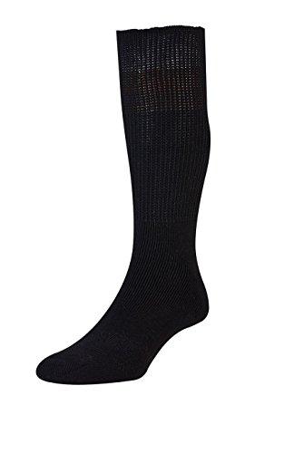 HJ Hall - Chaussettes en coton non comprimantes pour diabétiques - Noir, 46-48