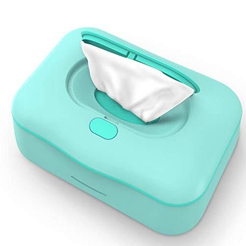 YUMEIGE Tücher-Wärmer Wipe Warmer Silent 3 Tage 1 kWh, tücherwärmer for Babys Innenmaß 7.6X 4.7x2.5inch, tücher-wärmer von unten nach Oben beheizt blau