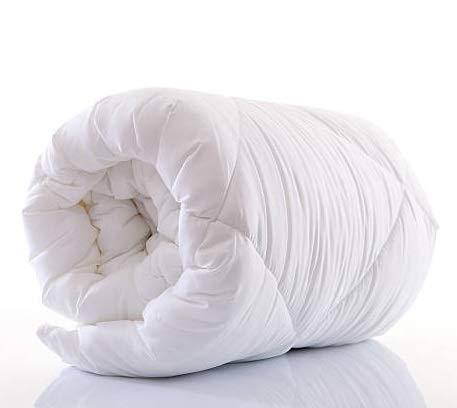 Amazinggirl Bettdecke 155 x 220 winterdecke Steppdecken Schlafdecke - Winterbettdecke warm für Allergiker Steppbettdecke weiß hypoallergen aus Microfaser