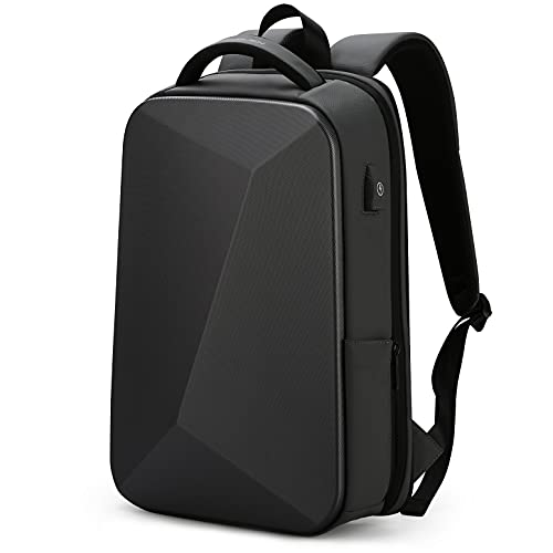 FENRUIEN Anti-Theft Hard Shell Backpack 15.6-Inch,Expandable Slim Business...