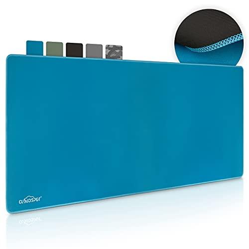 CloudSpot I Tappetino Mouse Gaming RGB - Grande Mouse Pad XXL 900 x 400 mm - Antiscivolo Tappetino per Mouse per Computer, PC e Laptop (Blu)