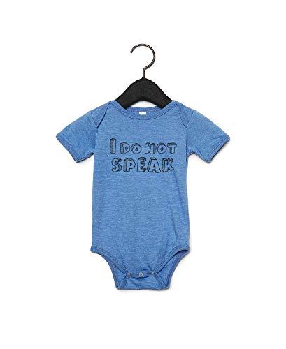 Promini I Do Not Speak - Body para bebé con cita Blanco blanco 9 mes