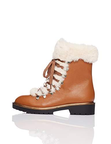 find. Fur Lined Hiker Zapatos de Low Rise Senderismo, Marrón Brown, 37 EU