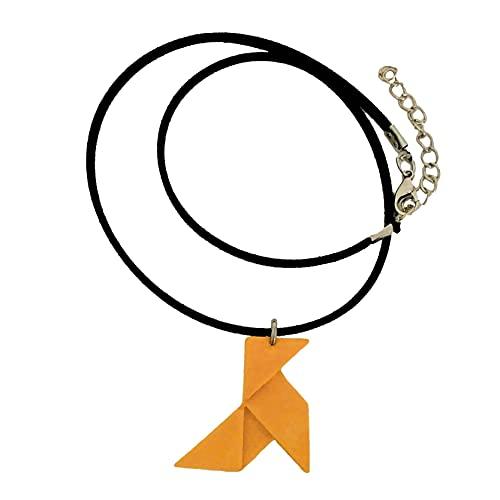 Collar pajarita origami resina cerámica, regalo, bisuteria origami, papel, bodas, eventos, despedida