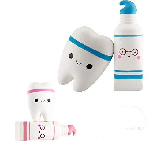 Squish Morbida dentifricio e Dente profumato Lento Stress Crescente mitigatore Giocattoli per i Bambini Squish Antistress Giocattoli per Bambini Blu