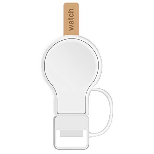 『2021年新改良』AMOVO iWatch 用 充電器 USB携帯式 マグネット式 置くだけ 急速充電 iwatch Series SE/6/5/4/3/2/1に対応 ワイヤレス 磁気 USB充電器 持ち運び便利 軽量 (白)