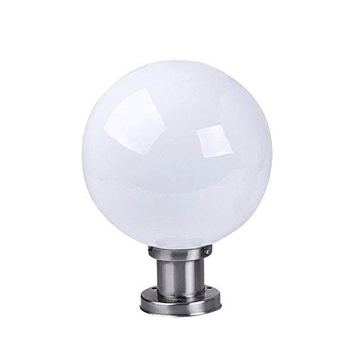 KMYX Acero Inoxidable jamba de la lámpara de acrílico Pantalla Porche Pilar Linterna Tradicional E27 Tradicional Poste Portátil Linterna for la Cubierta de la Cerca (tamaño : 20 * 30cm)