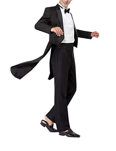 UMISS Hombre Traje de Boda de 2 Piezas de Sastre Vintage Padrino de Boda Prom Smoking Formal (Chaquetas + Pantalones)