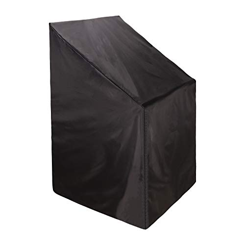 Patio Stacking Chair Cover Garden Chair Cover, Heavy Duty Polyester Waterproof Windproof Anti-UV Outdoor Furniture Cover 65 x 65 x 80/120cm