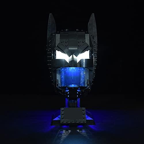 GILE Juego de iluminación LED para máscara de Batman Lego 76182, juego de iluminación compatible con Lego 76182 (sin set Lego).
