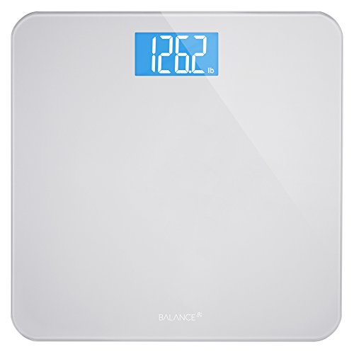 Greater Goods Digital Weight Bathroom Scale, Shine-Through Display, Accurate Glass Scale, Non-Slip & Scratch Resistant, Body Weight