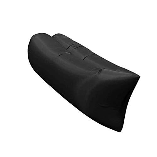 BANGSUN Aufblasbare Liege, wasserdicht, Luftsofa, Hängematte, Sicherheit, auslaufsicher, tragbar, Schwarz