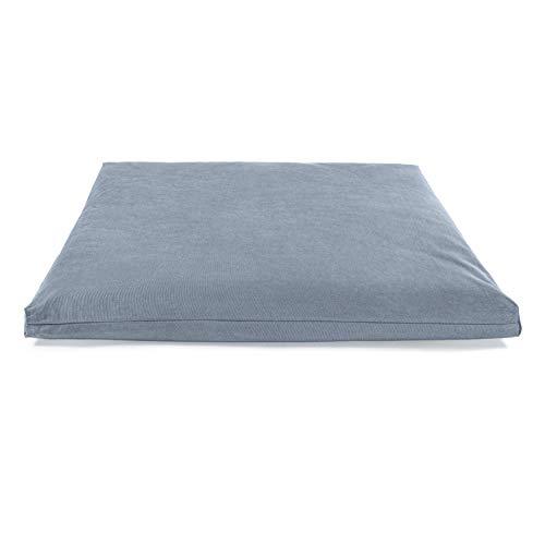 Lotuscrafts Meditationsmatte Zabuton Deluxe - Extra Dick - Meditationskissen Unterlage für entspannte Meditation - Waschbarer Bezug aus 100% Baumwolle - GOTS Zertifiziert