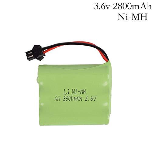 zjpvip218 3.6v batería 2800mah batería 3.6v batería Recargables 3.6v Paquete tamaño AA para RC Coche Herramientas de Juguete Modelo 1pcs