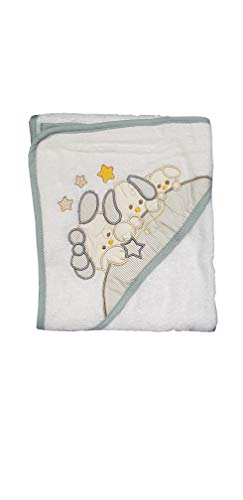 Albornoz para bebé, diseño de triángulo bordado, 100% algodón, varios modelos 70 X 70 CM gris