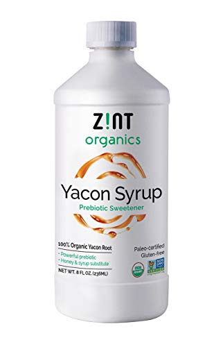 Organic Yacon Syrup - 100% Pure Paleo-Certified Prebiotic Fiber, Natural Sweetener, Non GMO, Pure Yacon Root Superfood - Natural Diet Aid (8 Fl Oz (Pack of 1))