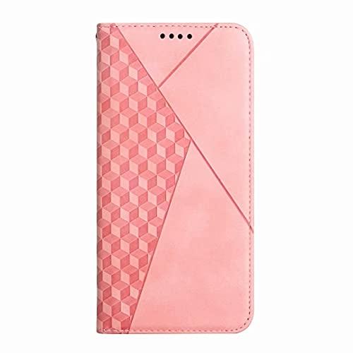 Funda para Samsung Galaxy S20 Plus, a prueba de golpes, piel sintética, funda de silicona con soporte magnético, ranura para tarjetas, protección contra golpes para Samsung Galaxy S20 Plus, color rosa