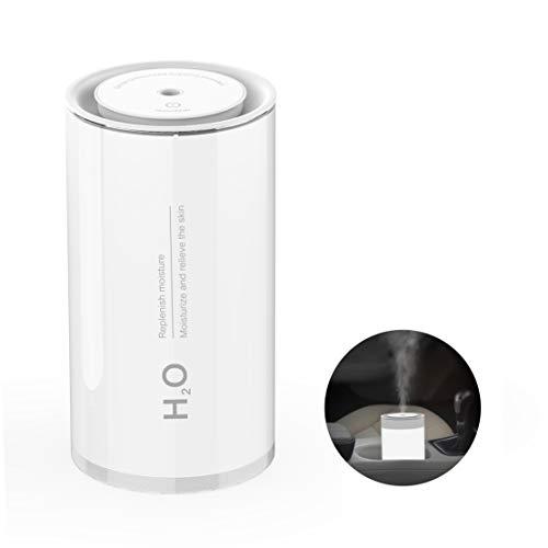 R FLORY Humidificador USB 400 ml Lámpara de noche ajustable Auto Apagado Protección Lámpara de cabecera Humidificador