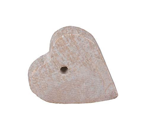 Honsell 79416 - Speckstein Rohling mit Loch, Herz-Anhänger in der Farbe Exotic, mit 4 mm Lochbohrung, ca. 4 x 4 x 1 cm groß, aus weichem Gestein, ideal auch für Kinder