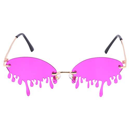 TENDYCOCO Occhiali da Festa da Spiaggia a Goccia per Bambini Occhiali da Vista Occhiali Divertenti novità Occhiali da Sole da Spiaggia Foto Prop per Compleanno Festa da Ballo Viola