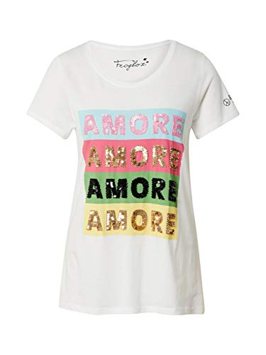 FROGBOX Damen Shirt Amore Amore mischfarben 38 (M)