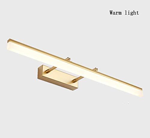 HSLXD.FGBD LED Spiegelleuchten, Badezimmerspiegellampe Acryl Schminktisch Make-Up Lampe Nebel Verhindern Spiegel Scheinwerferdekoration Spiegelschrankleuchte,Golden warm Light,90CM