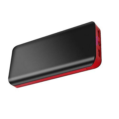 Rosso FKANT Power Bank 25000mAh Caricabatterie Portatile capacit/à Ultra-Alta Ricarica Rapida Batteria Portatile con Due Porte USB di 2.1A//1A per Huawei Samsung iPhone iPad e Altro Smartphone